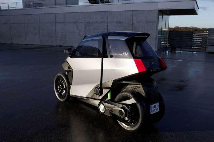 Peugeot показал суперкомпактный автомобиль будущего, который проедет в любой пробке