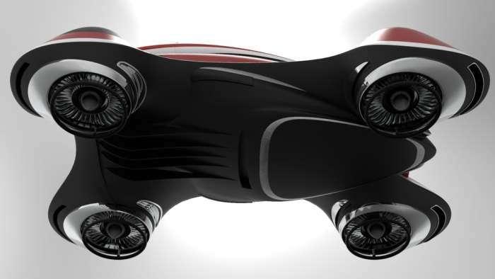 Итальянец разработал автомобиль с газотурбинными двигателями, который сможет подняться в небо