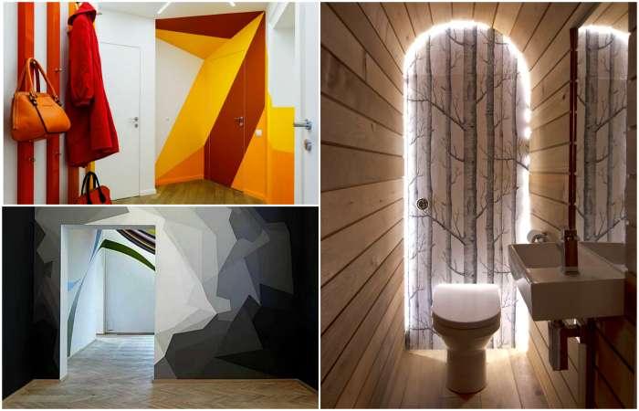 18 смелых примеров использования иллюзий в современных интерьерах