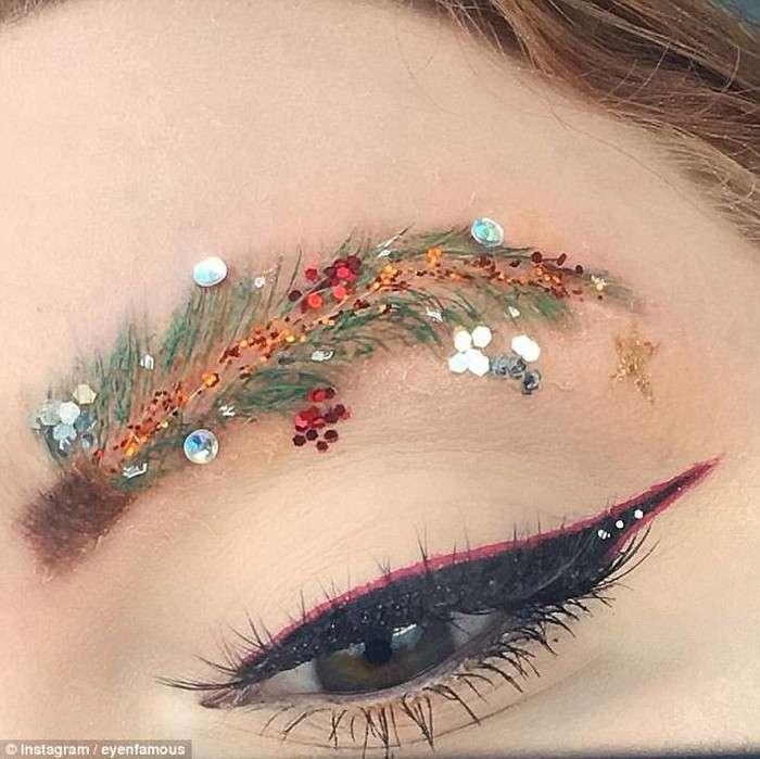 Брови-ёлки – модный образ для встречи Нового года, над которым потешается весь Интернет (15 фото)
