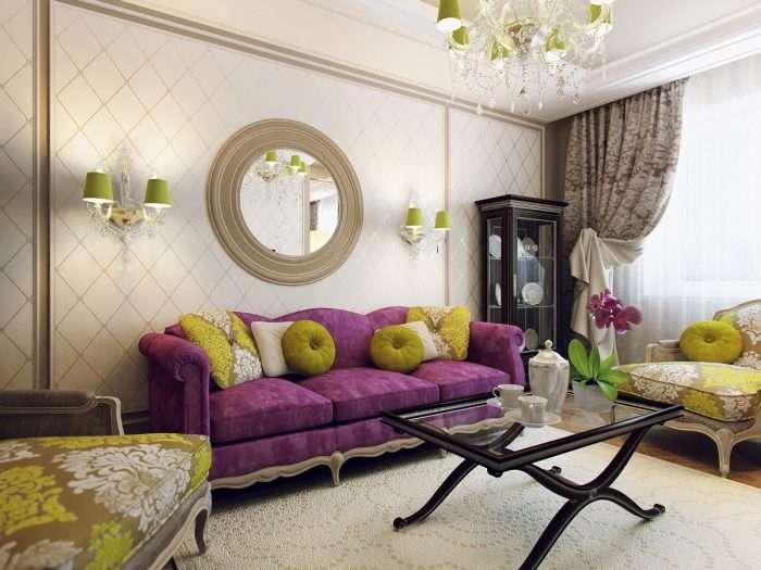 От картин до смелых панно, или Как легко и просто украсить стену над диваном