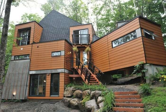 10 проектов, которые доказывают, что современные дома - это вовсе не -серые коробки-