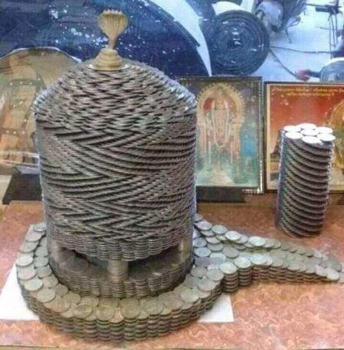 Необычные творения из самых обычных монет (22 фото)