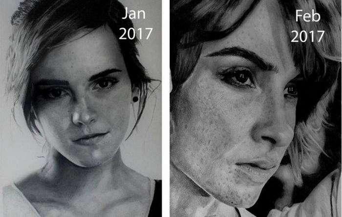 От простого к шедевру: прогресс в технике художника