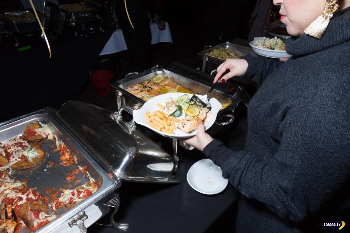 Новый Год 2018 в нью-йоркском ресторане