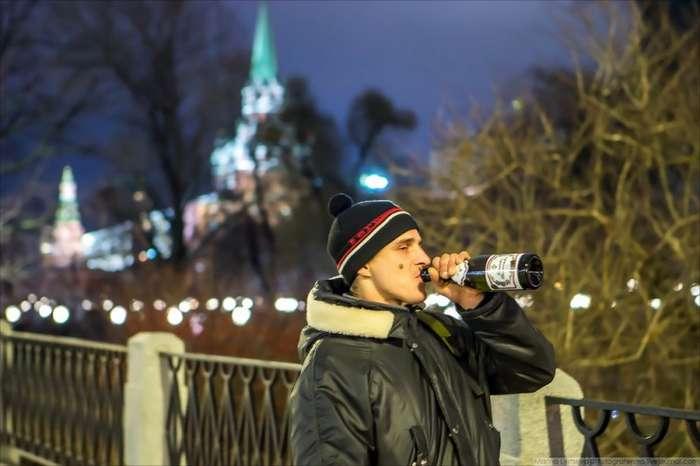 Первые часы нового 2018 года в Москве (43 фото)