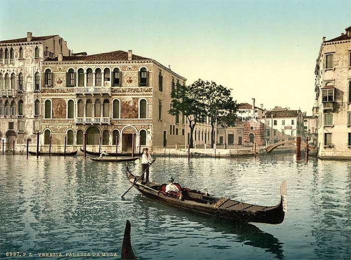 Уникальные цветные фотографии Венеции 1890-х годов (29 фото)