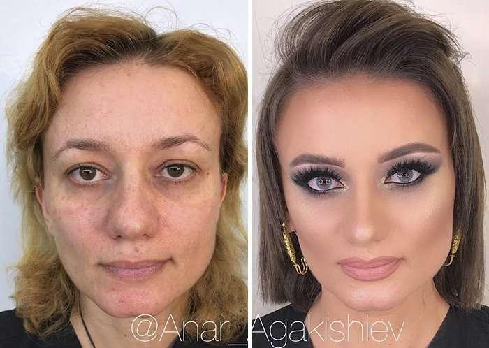 Чудеса макияжа: визажист превращает пожилых дам в настоящих красоток! (18 фото)