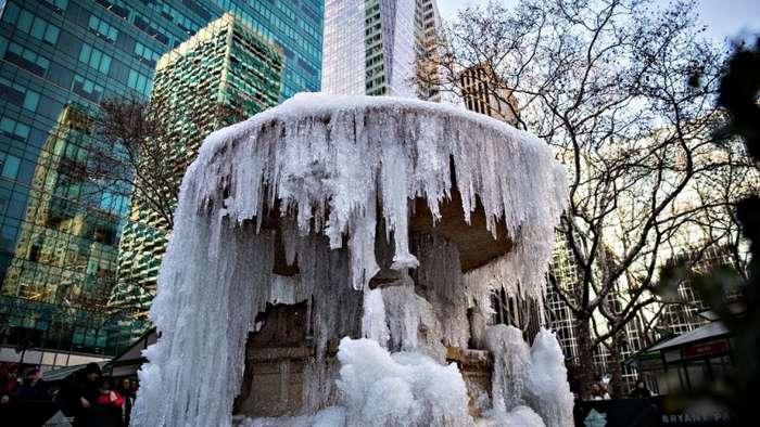 Северную Америку сковали аномальные морозы: страдают и люди и животные (4 фото и 2 видео)