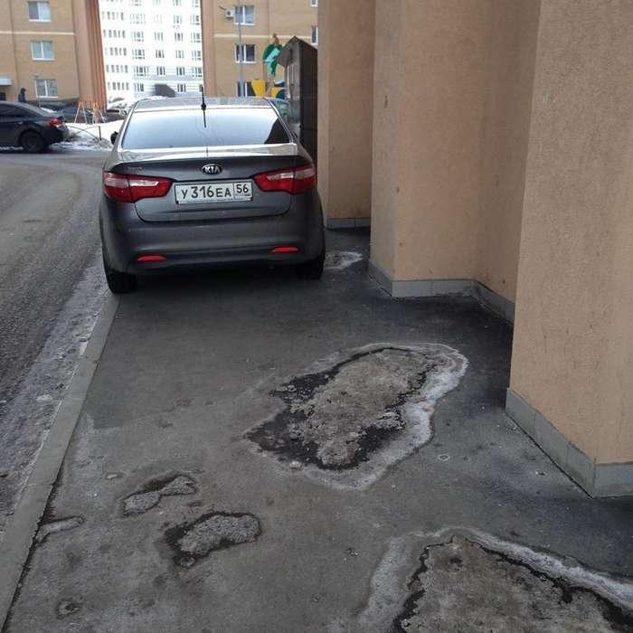 Когда водитель паркуется как -бог- (23 фото)