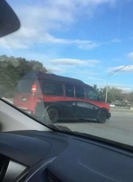 Чего только не увидишь на дорогах: странные автомобили-28 фото-