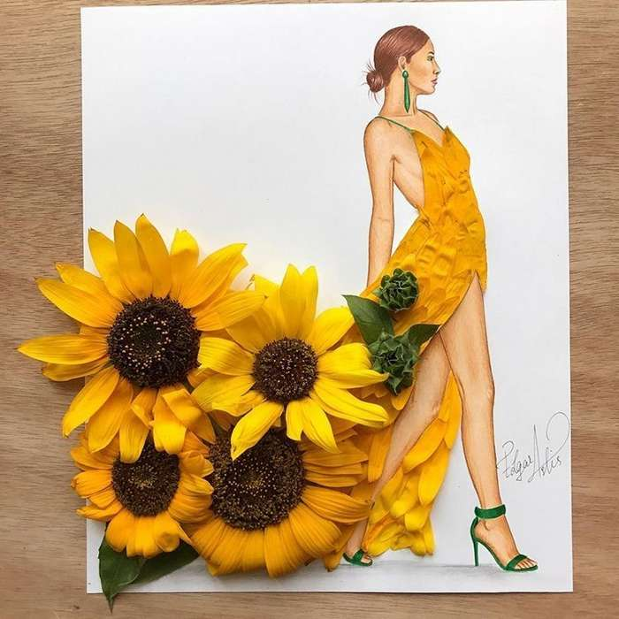 Армянский fashion-иллюстратор создаёт эскизы одежды из подручных средств-29 фото-