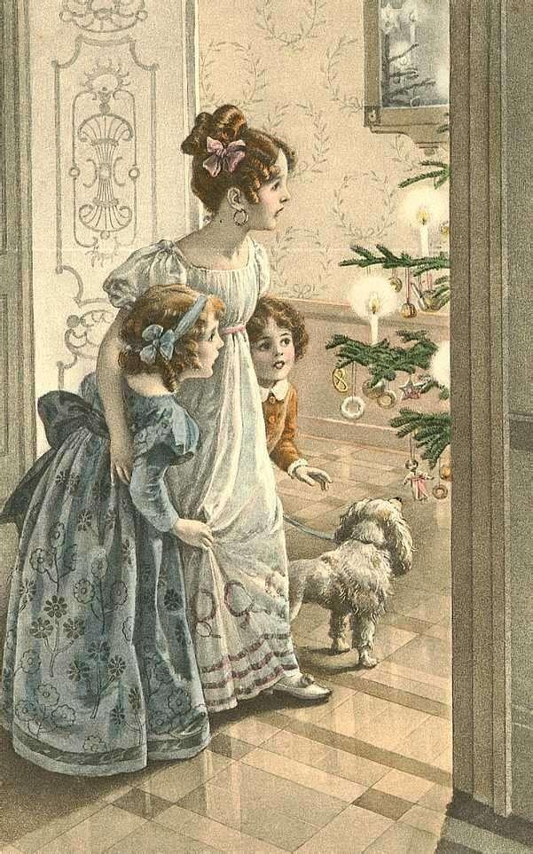 Новогодние хлопоты в XIX веке-4 фото-