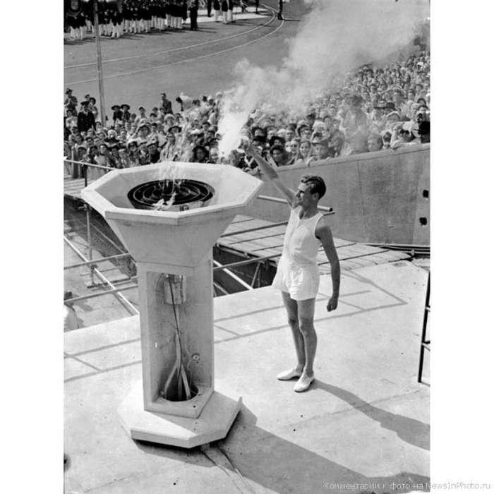 История и эволюция олимпийского факела-45 фото-
