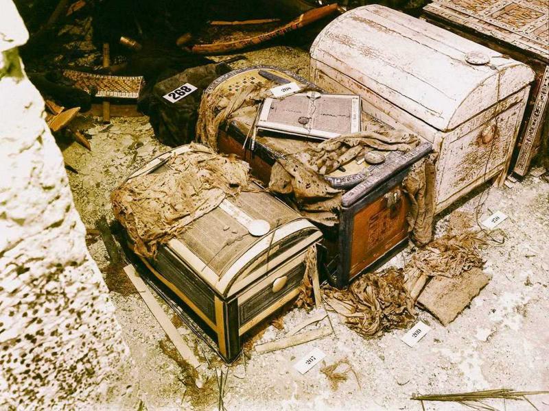 Отреставрированные снимки открытия гробницы Тутанхамона-21 фото-