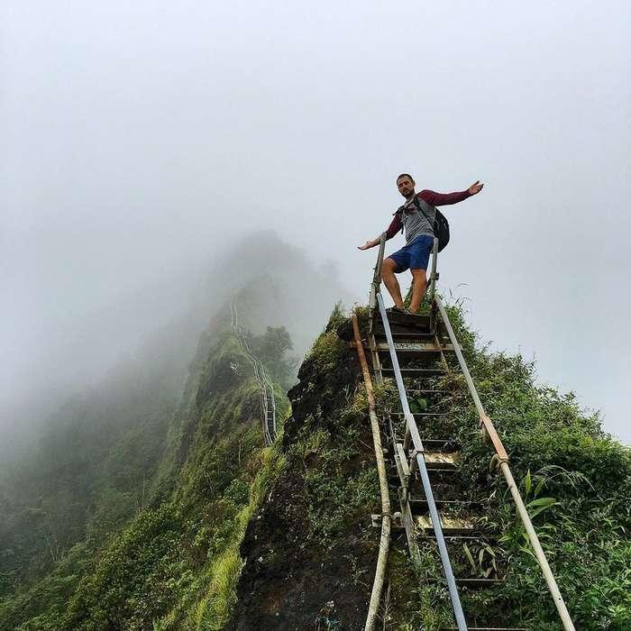 Запретная лестница на Гаваях, которая ведет в небеса-3 фото-