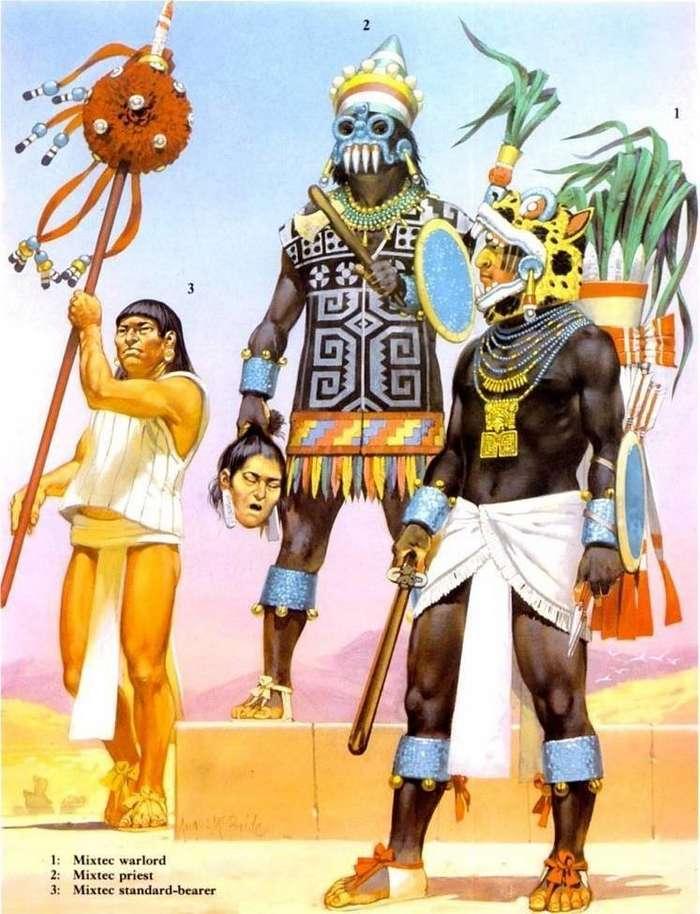 Конкистадоры и ацтеки: когда перья дороже золота!-20 фото-