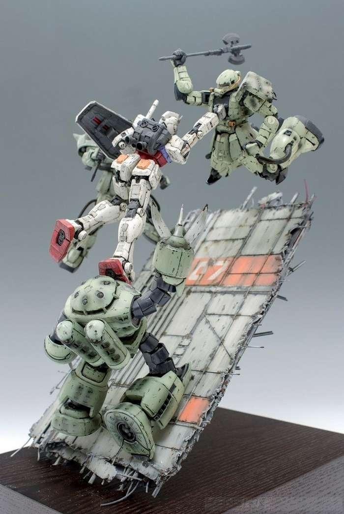 Сборные модели мехов Gundam 3 Диорамы 2-44 фото + 1 видео-