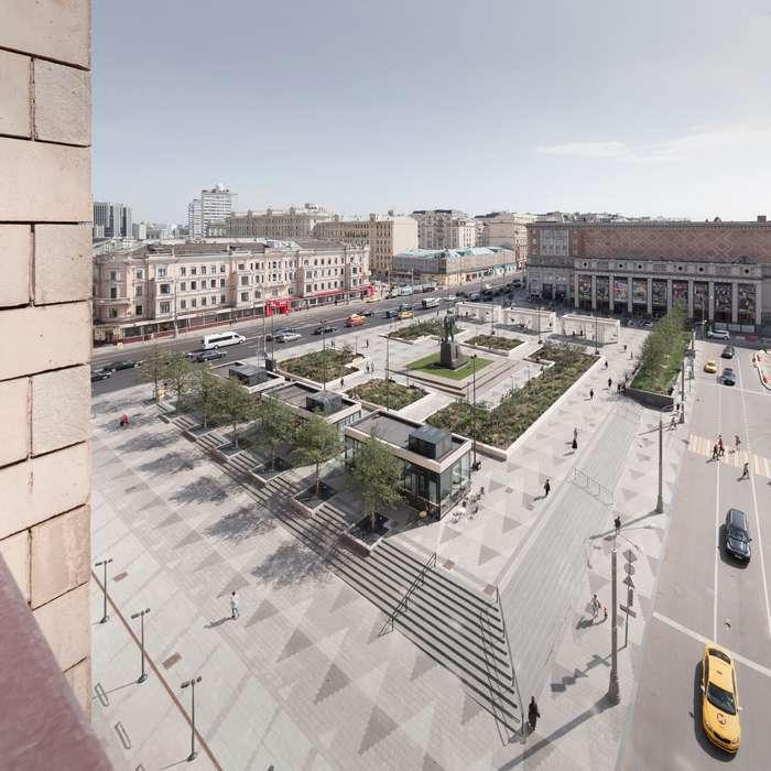 Проект Триумфальной площади в Москве от Buromoscow и её реконструкция
