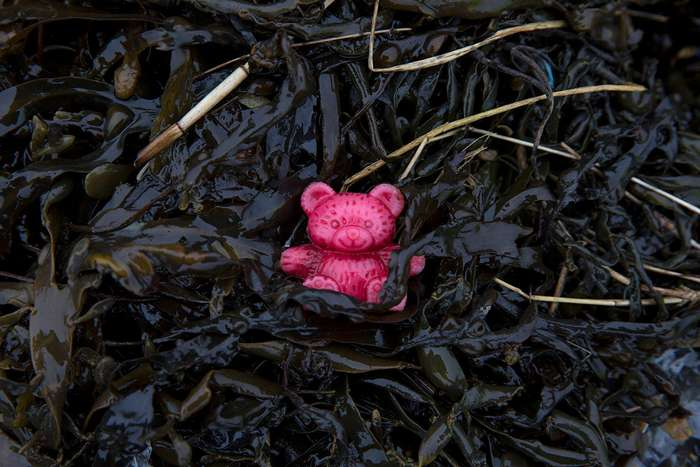Горы пластика на берегу Темзы