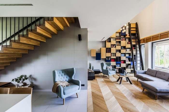 Суперсовременный интерьер квартиры в ландшафтном парке Познани