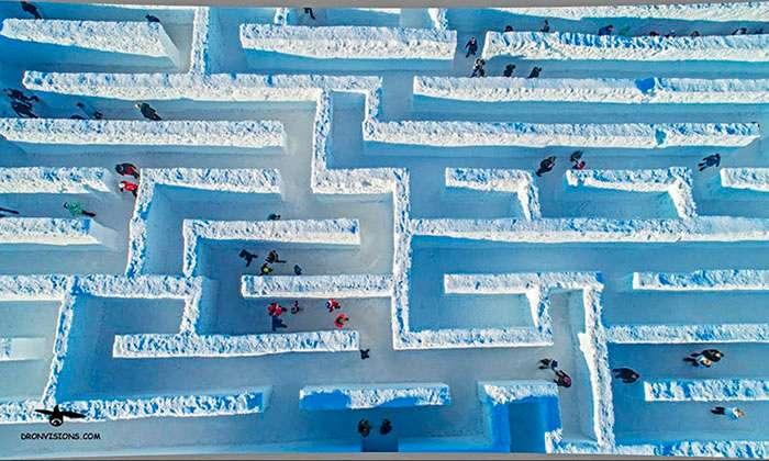 В Закопане построили самый большой в мире снежный лабиринт