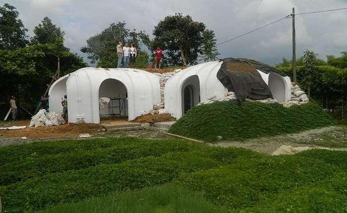 Модульный дом -а-ля хоббит-, на строительство которого уйдёт всего 3 дня и 500 дол.