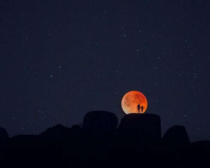 Три явления одновременно: Суперлуние, полное лунное затмение и полнолуние (4 фото)