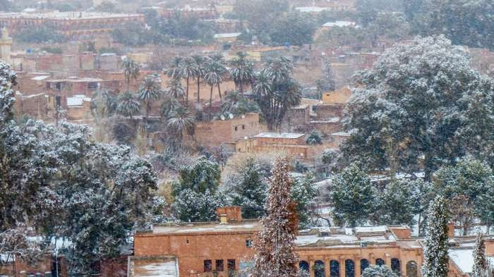 В Сахаре второй раз за зиму выпал снег