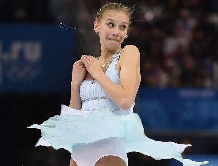 Забавные выражения лиц олимпийских фигуристов