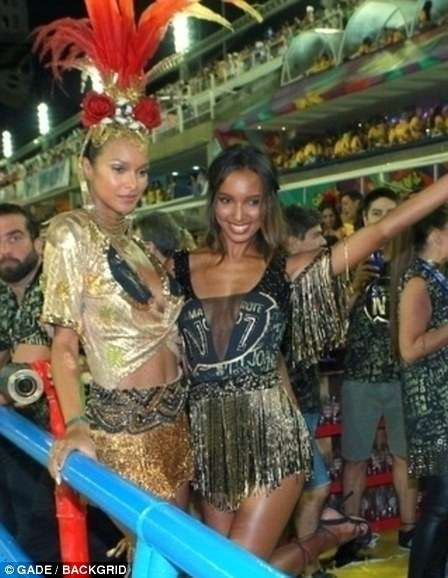 Ангелы Victoria&039;s Secret Адриана Лима и Лайс Рибейро приняли участие в бразильском карнавале