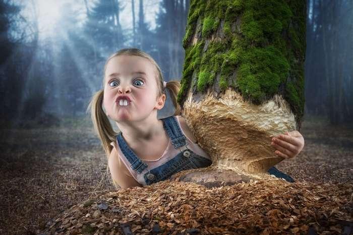 Забавные фотографии с применением фотошопа