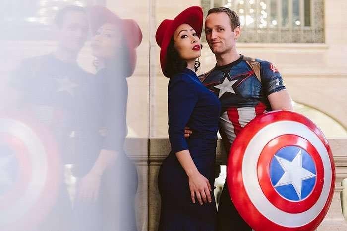 Необычная и эффектная свадебная фотосессия креативной пары из Нью-Йорка
