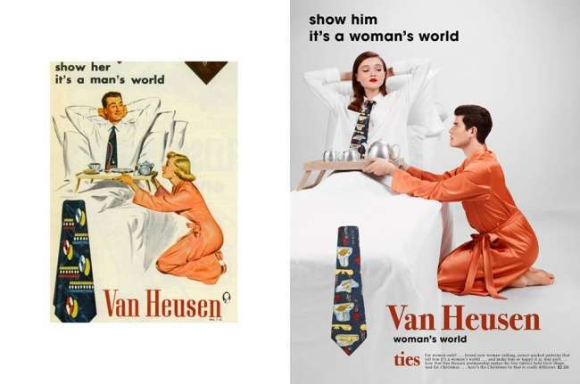 Фотограф переснял сексистские рекламные плакаты 50-х, чтобы показать, как изменилась жизнь
