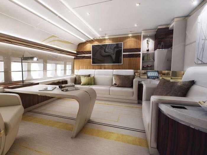 Рейтинг Business Insider: 7 самых роскошных частных самолетов в мире-25 фото-