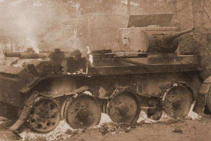 Смертельная черта танка БТ-7-4 фото-