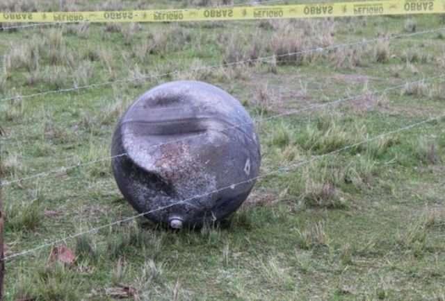 В Перу с неба упал неизвестный шар с русскими буквами-4 фото-