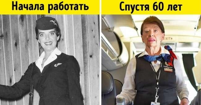 Самая опытная вмире стюардесса рассказала отом, что изменилось всамолетах за60лет ееработы