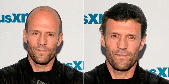 Шевелюра vs лысина: мы добавили волосы 10 лысым знаменитостям, и это полностью изменило их внешний вид