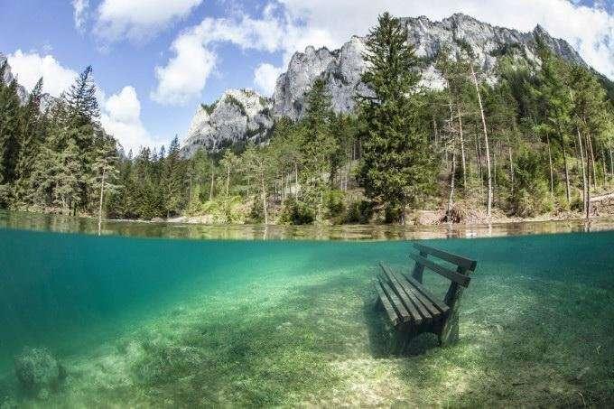 Зеленое озеро – излюбленное место дайверов и любителей подводных съемок-6 фото-