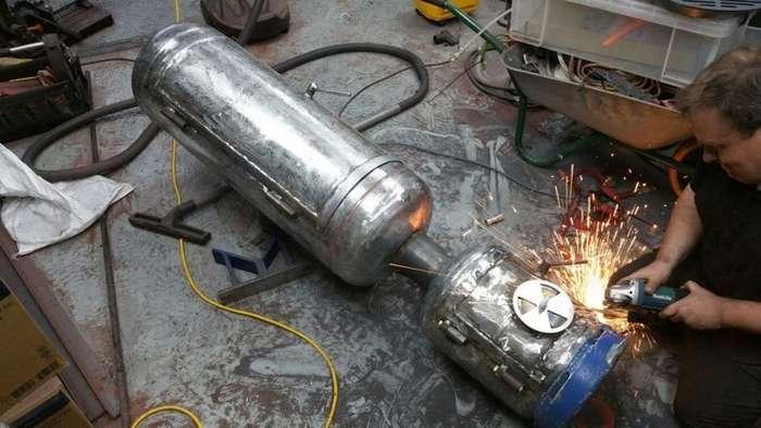 Своими руками: коптильня горячего копчения из газовых баллонов-17 фото-