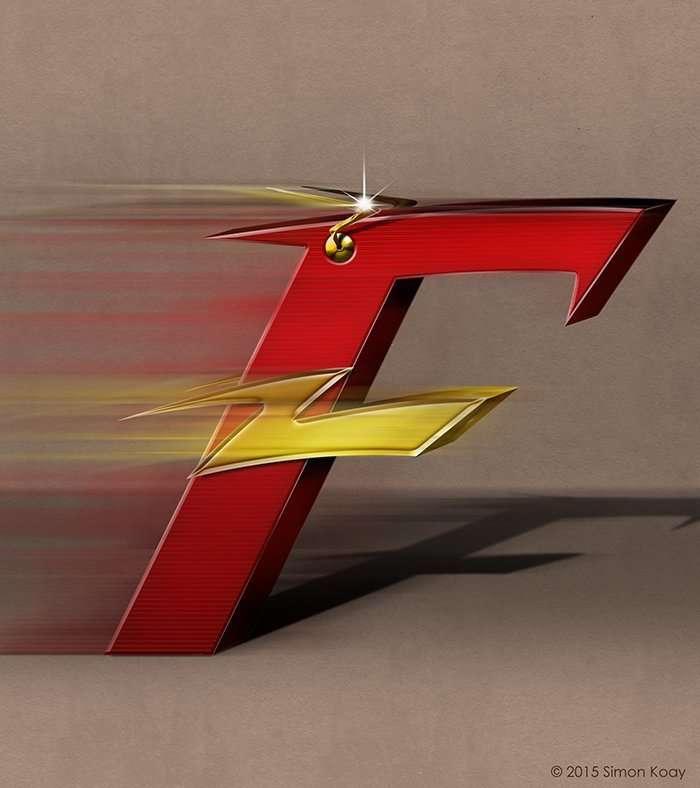 Художник вдохновился комиксами и нарисовал -супергеройский- алфавит-28 фото-