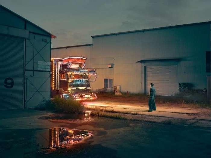 Рабочие грузовики с невероятным убранством и украшениями из Японии-6 фото-