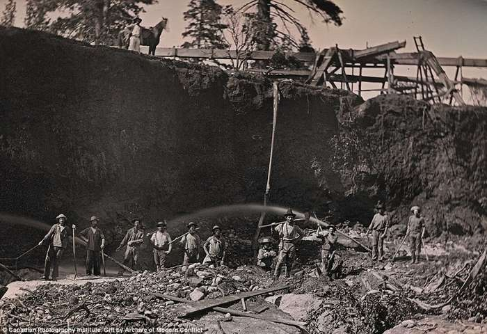 Редкие фотографии 19 века: золотая лихорадка в Калифорнии-11 фото-