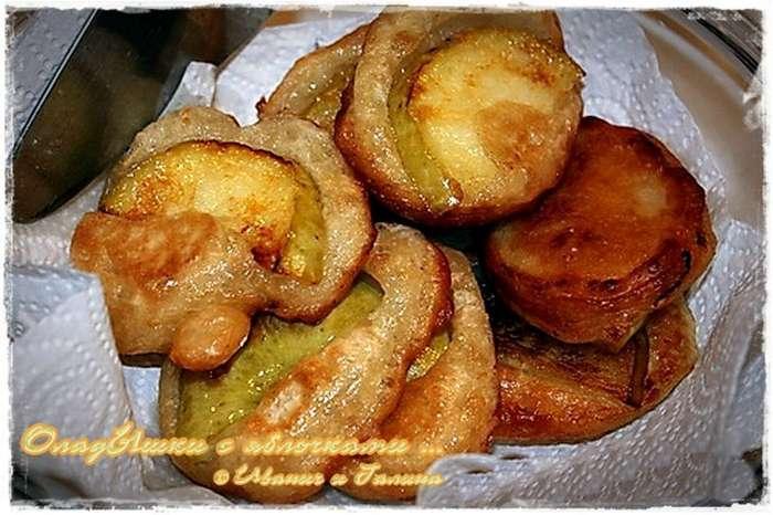 Оладышки с припеком, в общем, с яблоками-11 фото-