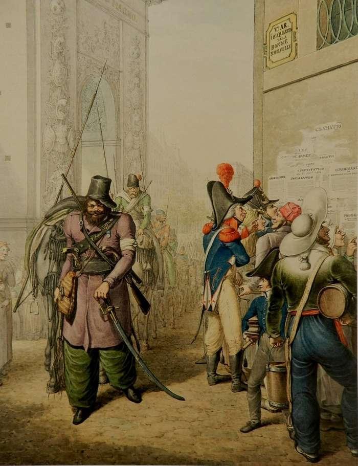 Русские казаки в Париже-25 фото-