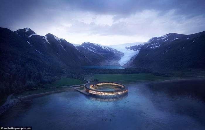 В Норвегии откроют супер-экологичный отель на солнечных батареях-6 фото-