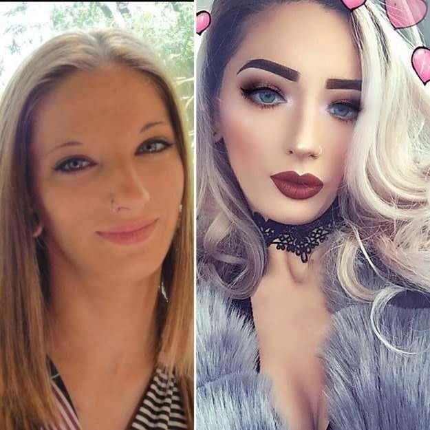 Девушки, которые изменили себя до неузнаваемости с помощью макияжа-15 фото-