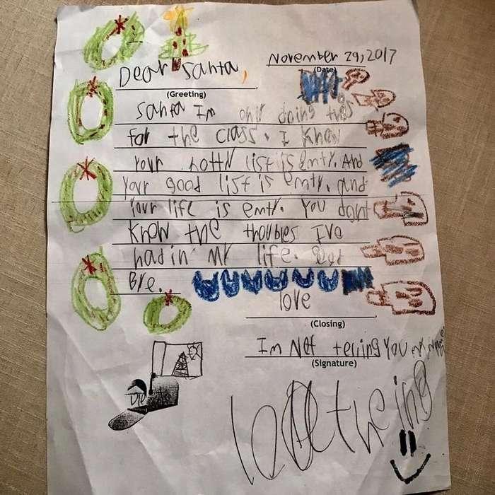 Мальчик рассмешил интернет своим письмом к Санте, полном безысходности-2 фото-