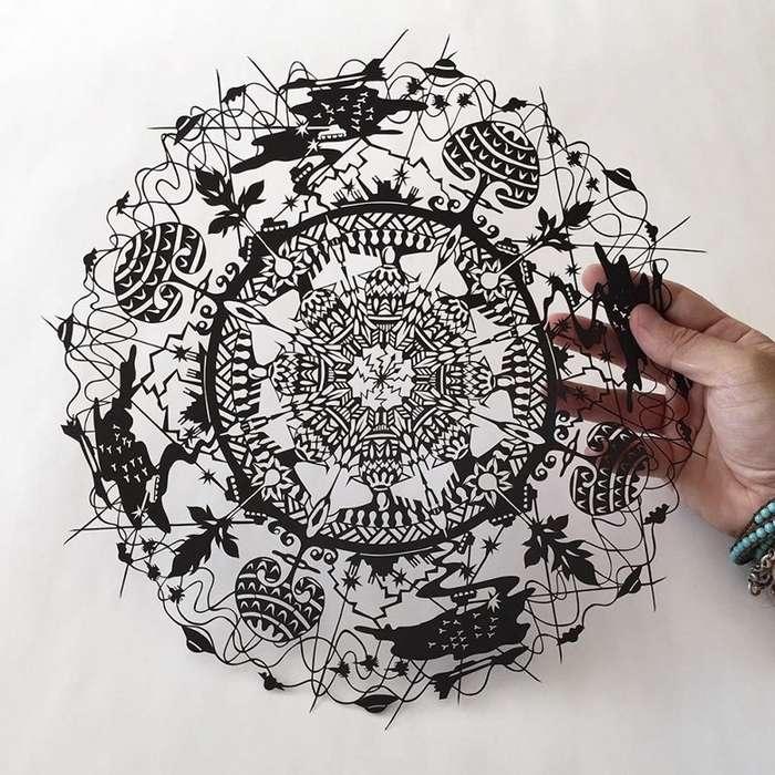 Бумажные кружева от японского мастера-24 фото-